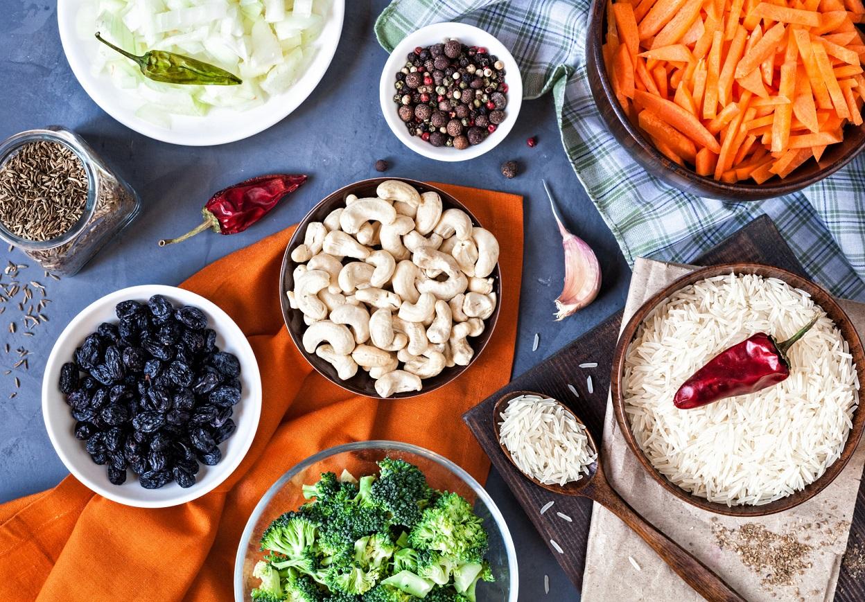 Ingredients of Indian Vegetarian Pulao